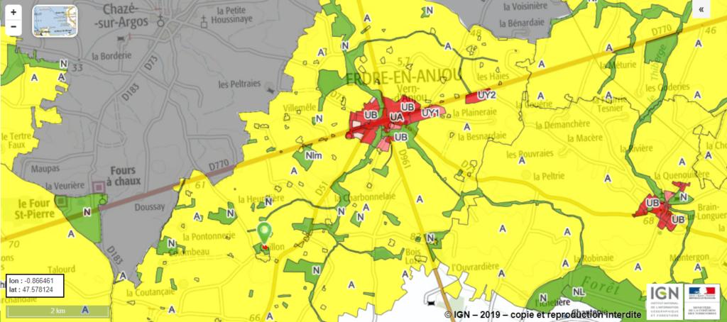 Capture d'écran du Géoportail de l'urbanisme Crédits : @DGALN
